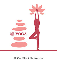 Yoga and pilates background - Illustration vector