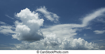 skyscape - blue cloudy sky