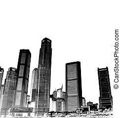 cityscape - black and white