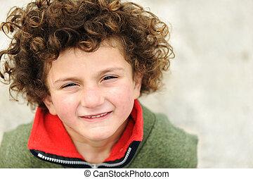 Fine art portrait of cute kid