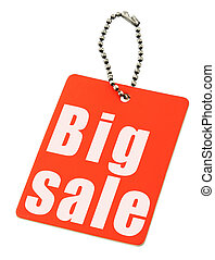 red sale tag isolated