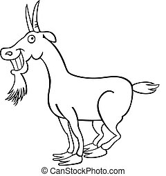 Goat for coloring book - Illustration of funny Goat for...