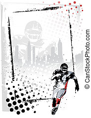 american football poster - illustration of the american...