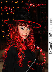 Witch - Beautiful witch ready for spells and incantations.