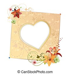 Frame background with heart shape