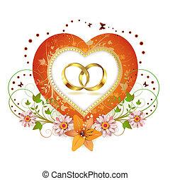 Frame with shape heart