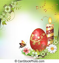 Easter card with butterflies