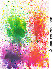 Beautiful watercolor background in soft orange, purple and green- Great for textures and backgrounds for your projects!