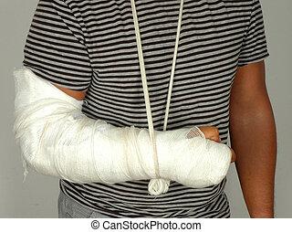 Broken arm - Men with his broken right arm