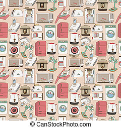 seamless home appliances pattern