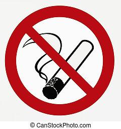 Ban on smoking -sign
