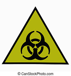 Biological contaminating -warning sign