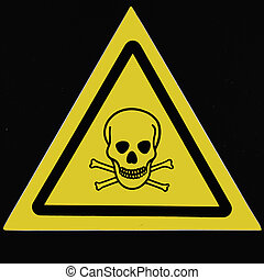 Alerting poisoning of intoxicants to a danger -sign