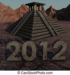 2012 Mayan Pyramid - picture of a mayan pyramid in a desert...