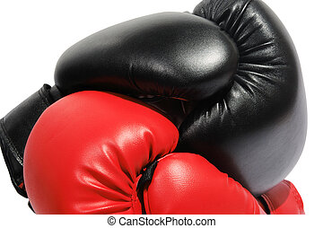 Red and black boxing-gloves