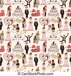 seamless wedding pattern  - seamless wedding pattern