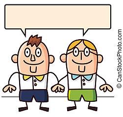 cartoon people talk  - cartoon people talk