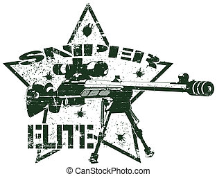 Sniper elite stamp - vector image of Sniper elite stamp