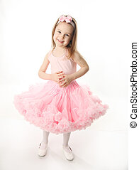 Pretty preschool ballerina - Portrait of an adorable...