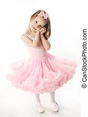 bonito, pré-escolar, bailarina