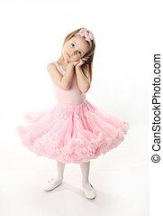 Pretty preschool ballerina - Portrait of an adorable...