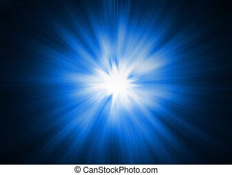 Light Burst - XL - Dramatic blue and white Lightburst /...