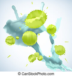 Paint Splat Background - Abstract background made of paint...