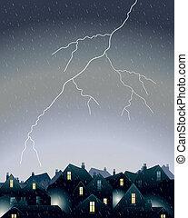 lightning in the city
