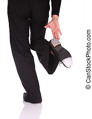 Tap Dance - Woman performing a movement of Tap Dance