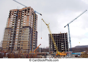 Construction of two buildings, the city of Donetsk