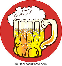 Mug of beer - Illustration of mug of beer