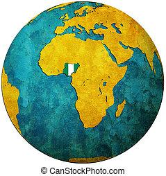 mapa,  nigeria, Bandera, kula