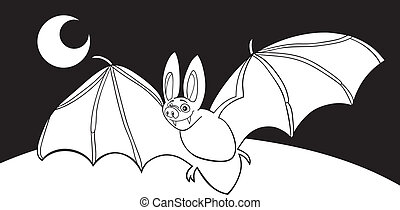 vampire bat for coloring book