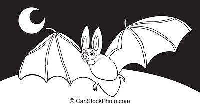 vampire bat for coloring book
