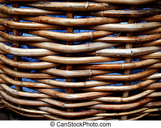Weathered Wicker Basket - Weathered wicker basket holding...