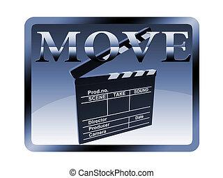 The button Movie clapper