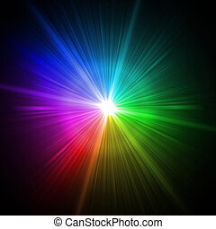 colorful light - Abstract colorful lens flare light over...