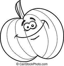 funny pumpkin for coloring book - illustration of funny...