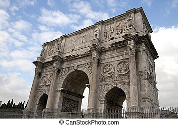 Arco Di Costantino in Rome - View of Arco Di Costantino Arch...
