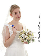 Pregnant bride - Woman gets married because she is pregnant,...