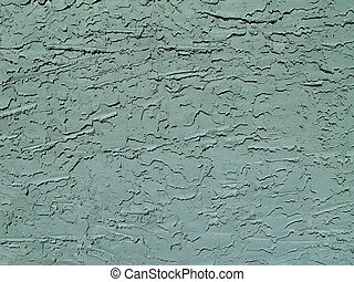 Green Stucco Wall - Rough textured concrete or stucco...
