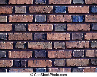 Multi-colored Duo-Sized Brick Wall