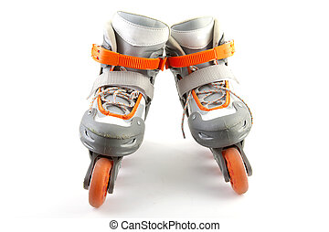 pair of roller skates - Pair of roller skates isolated on...