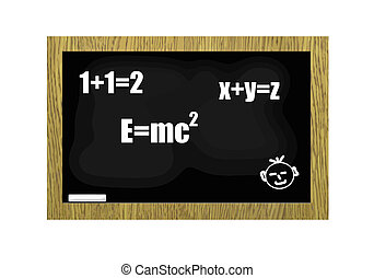 Blackboard with scribbles