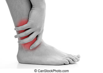 Ankle pain - Young man having pain in his ankle