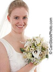 portrait of a bride - Portrait of a young beautiful bride...
