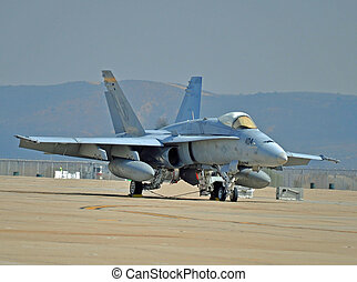 FA-18 Hornet - An FA-18 Hornet on the Flightline at MCAS...