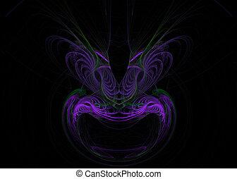 Mask Shaped Fractal - A purple mask or face shaped fractal...