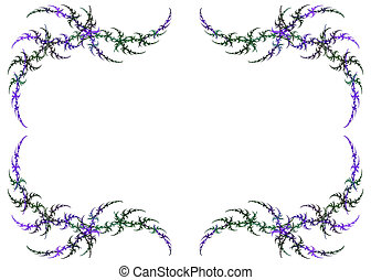 Mardi Gras Colored Fractal Frame - Mardi Gras colored...