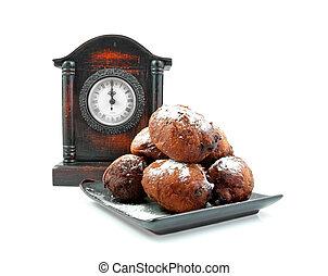 Dutch donut also known as oliebollen
